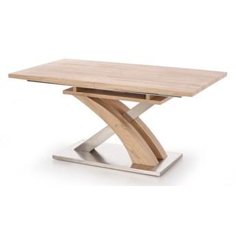 SELSEY Stół rozkładany Reinosa 160-220x90 cm dąb sonoma - stal nierdzewna