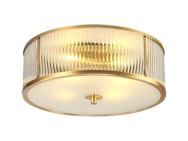 Brass Ionic - plafon kryształowy 60cm Funkcje Brak dodatkowych funkcji Mosiądz Tworzywo sztuczne Szkło Lampa kula Metal Lampa z kryształkami Styl Nowoczesny