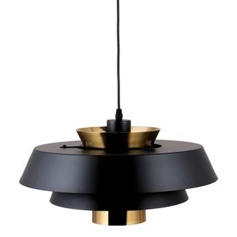 Aalborg Black 40cm - duża nowoczesna lampa wisząca czarna mosiądz