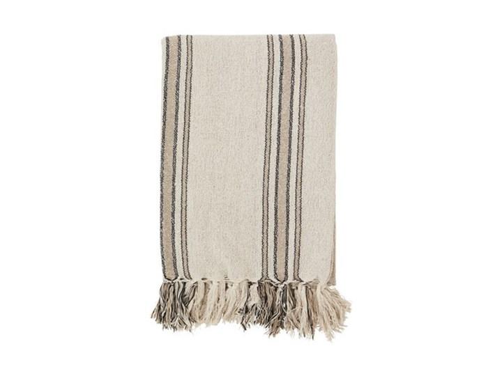 Madam Stoltz - Koc Striped 125x175 cm Kategoria Koce i pledy Bawełna Kolor Biały