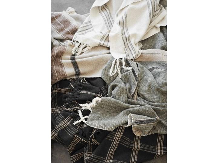 Madam Stoltz - Koc Striped Kategoria Koce i pledy Bawełna 125x175 cm Kolor Szary