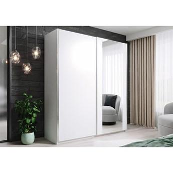 Szafa HIT 120 : Dodaj półki: - 3 półki- białe, Wybierz kolor frontu: - biały/lustro, Wybierz kolor korpusu: - Biały