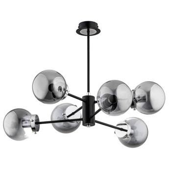 Nowoczesna lampa sufitowa KRAB BLACK OP. OŚW. 6 PŁ