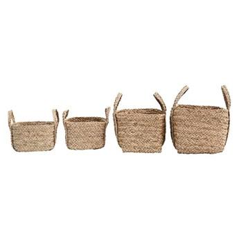 Zestaw 4 prostokątne i kwadratowe kosze z uchwytami Sikar z trawy morskiej HOUSE DOCTOR