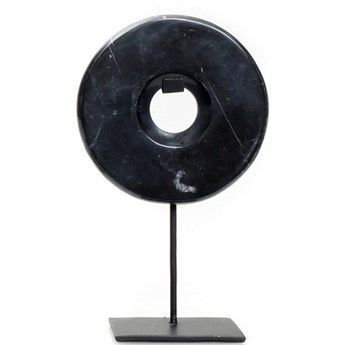 Dekoracja stojąca z czarnego marmuru Disc-S BAZAR BIZAR