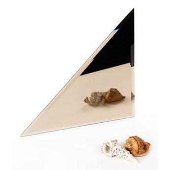 Płytka lustrzana fazowana brązowa trójkąt 30x30x42,4cm