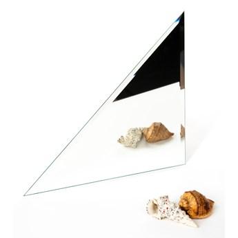 Płytka lustrzana fazowana trójkąt srebrny 40cm x 40cm