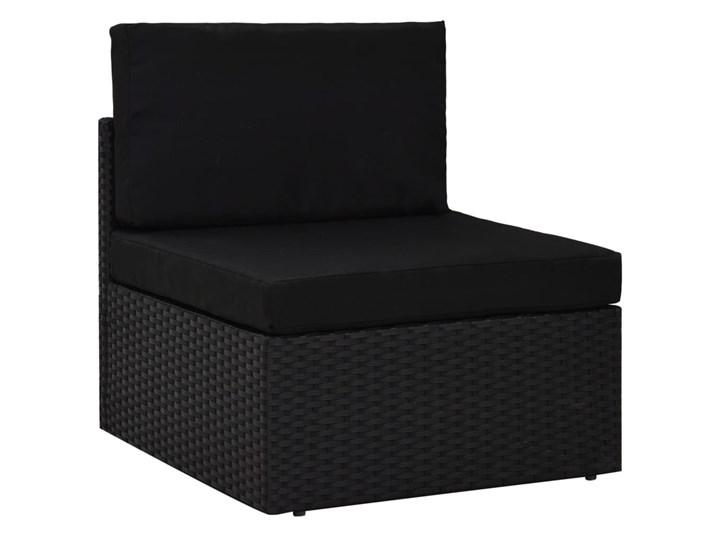 vidaXL 8-cz. ogrodowy zestaw wypoczynkowy, poduszki, czarny rattan PE Zestawy kawowe Zestawy modułowe Zestawy wypoczynkowe Stal Zawartość zestawu Stolik