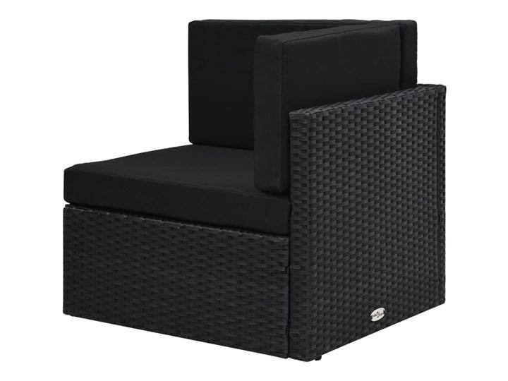 vidaXL 8-cz. ogrodowy zestaw wypoczynkowy, poduszki, czarny rattan PE Zestawy modułowe Stal Zestawy wypoczynkowe Zestawy kawowe Zawartość zestawu Stolik