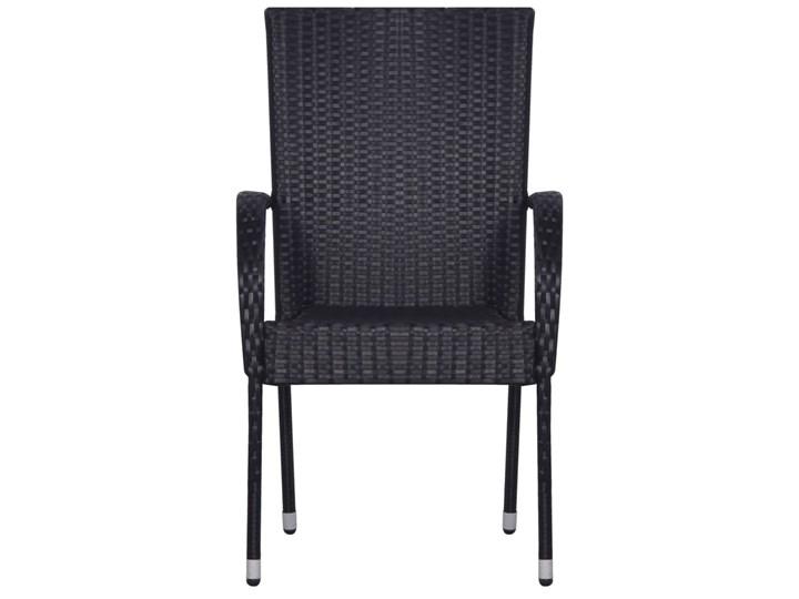 vidaXL 9-częściowy zestaw mebli ogrodowych, polirattan, czarny Stal Technorattan Zawartość zestawu Krzesła Stoły z krzesłami Zawartość zestawu Stół
