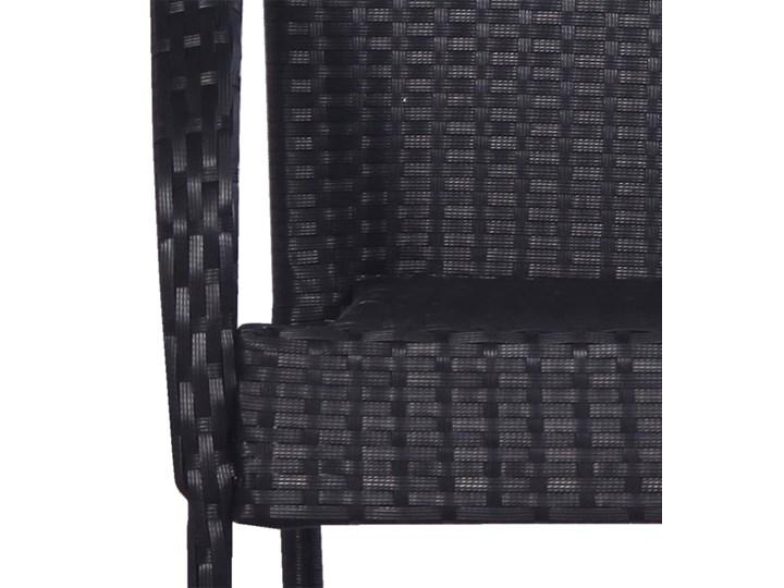 vidaXL 9-częściowy zestaw mebli ogrodowych, polirattan, czarny Stoły z krzesłami Stal Technorattan Zawartość zestawu Krzesła Zawartość zestawu Stół