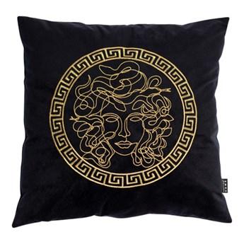Poszewka na poduszkę welurowa Roma czarna czarny
