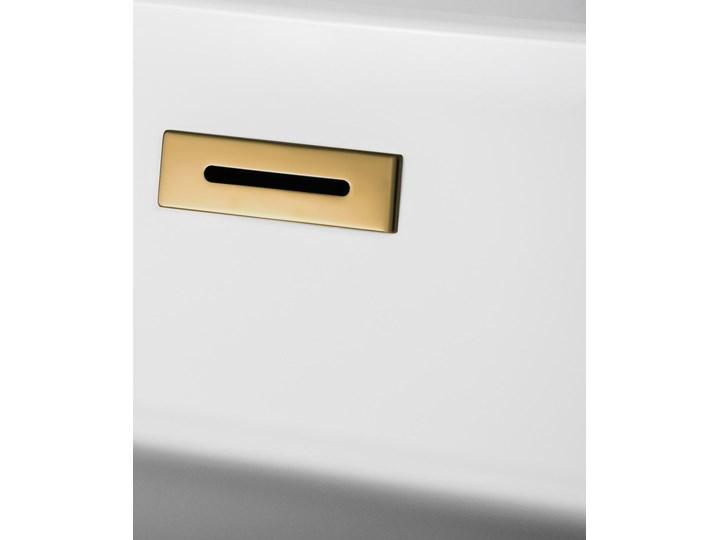 Wanna przyścienna wolnostojąca Corsan E030 Mono 160 cm z wykończeniem różowe złoto Stal Akryl Wolnostojące Kolor Złoty