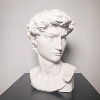 Doniczka ozdobna rzeźba Michała Anioła Dawid (Kolor: Czarny)