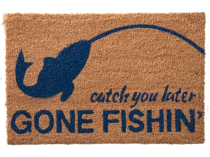 Wycieraczka Gone Fishing 60x40cm naturalna niebieska Kolor