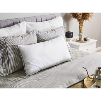 Poduszka do sypialni biała bawełna japara prostokątna 40 x 80 cm do spania