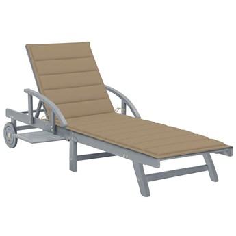 Beżowy leżak ogrodowy - Solar