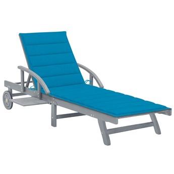 Niebieski leżak ogrodowy - Solar