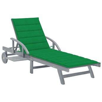 Zielony leżak ogrodowy - Solar