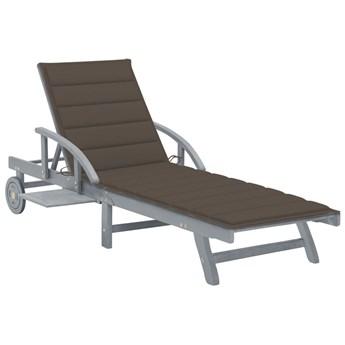Brązowy leżak ogrodowy - Solar