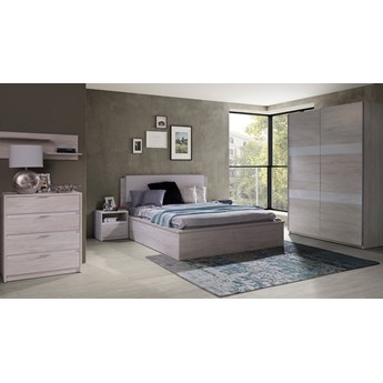 6-elementowy system mebli do sypialni Denver - Biały dąb