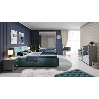 BELLAGIO, Duży zestaw mebli do sypialni z lustrzanymi frontami