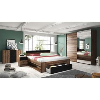 Meble sypialniane HELVETIA system BETA - łóżko komoda stoliki nocne szafa z lustrem