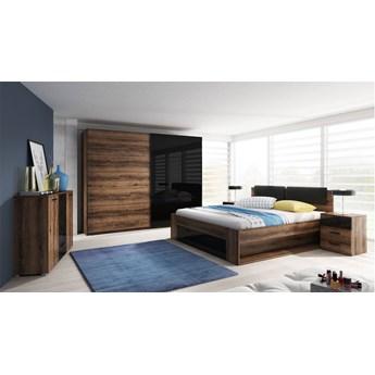 Meble do sypialni HELVETIA system GALAXY - łóżko szafa komoda stoliki nocne