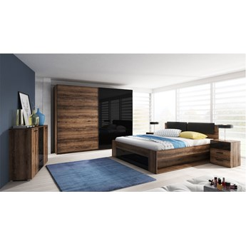 Komplet mebli do sypialni HELVETIA system GALAXY - łóżko komoda szafa stoliki nocne