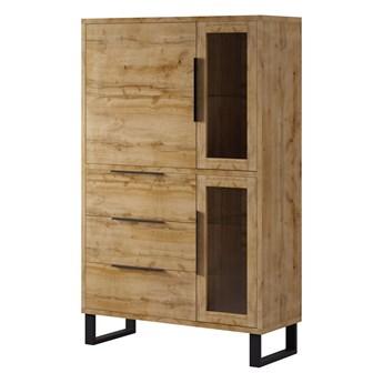 Witryna 120 cm 3 drzwiowa, 3 szuflady - HELVETIA system HALLE TYP12
