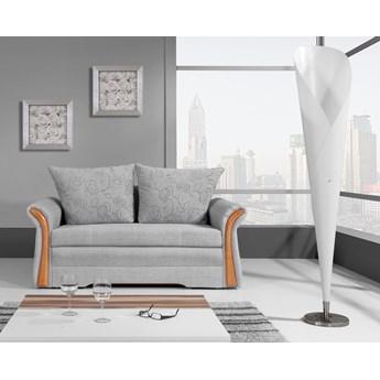 Szara sofa rozkładana NATA 155x95 z pojemnikiem do salonu