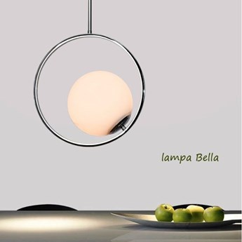 MCODO ::  Stylowa lampa sufitowa Bella chromowana w stylu Glamour