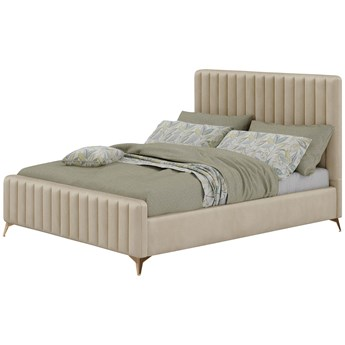 Łóżko w stylu Glamour 180x200 BELANIA (VFB-02) / Welur - Beż