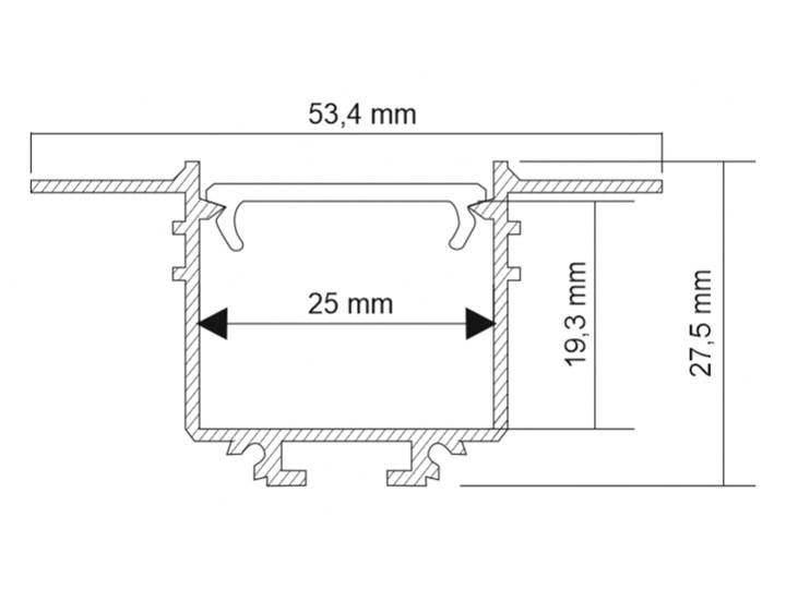 Oprawa wpuszczana HANAWA SHILO  1949 Oprawa led Oprawa stropowa Kategoria Oprawy oświetleniowe