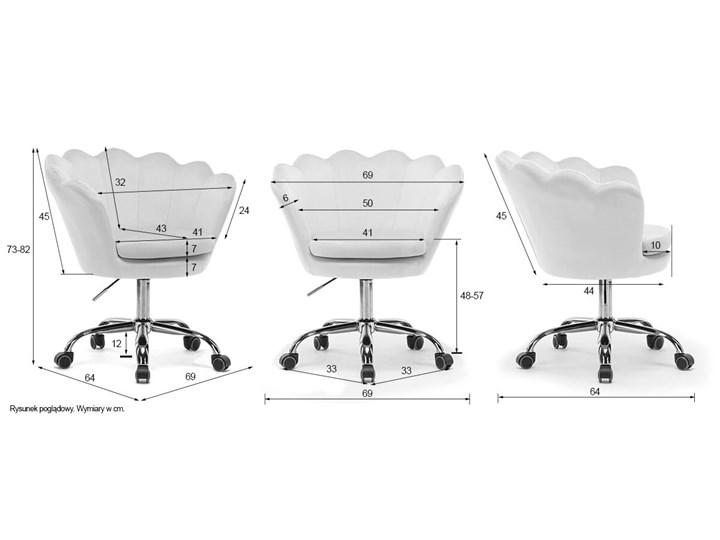 Fotel obrotowy muszelka Glamour SC-ZT8255 czarny welur Metal Tkanina Fotel muszelka Fotel pikowany Kategoria Fotele do salonu