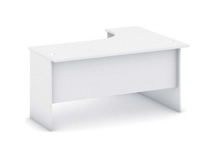 Biurko ergonomiczne lewe, biały Głębokość 120 cm Szerokość 140 cm Głębokość 40 cm Płyta MDF Biurko tradycyjne Biurko z nadstawką Głębokość 80 cm Pomieszczenie Biuro