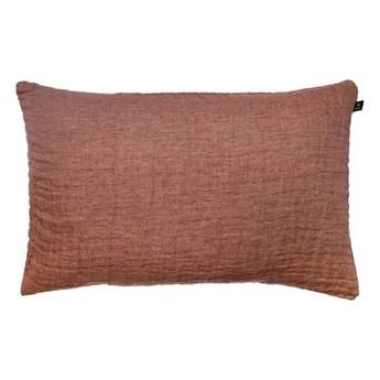 Duża brązowa poduszka dekoracyjna 50x70 Hannelin z lnu HIMLA