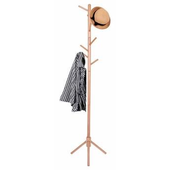 Stojak na ubrania 175cm wieszak stojący, podłogowy naturalne drewno