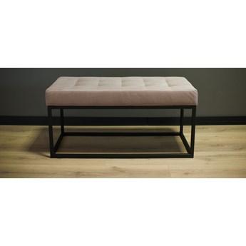 Siedzisko, ławka metalowa z pikowaniem SIGI90 różowa