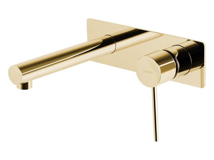 Bateria umywalkowa podtynkowa Corsan CMB7515GL Lugo złota z wylewką Bateria ścienna Wykończenie Mosiądz