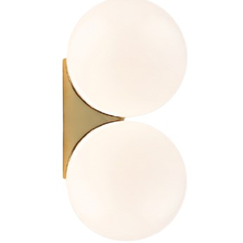 Ball At Wall Double - nowoczesny kinkiet podwójny