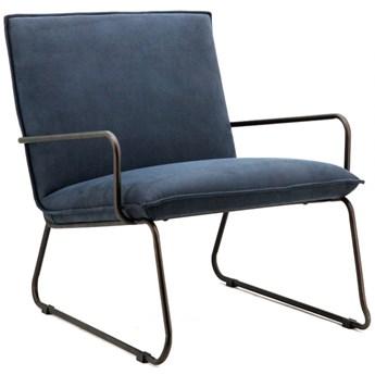 Fotel Delta 63x77 cm niebieski
