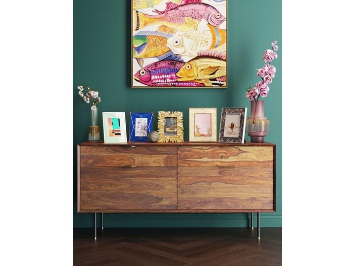 Ramka na zdjęcia Chevron 21x26 cm brązowa Pomieszczenie Salon Kolor Złoty