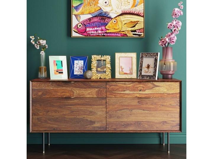 Ramka na zdjęcia Chevron 21x26 cm brązowa Kolor Złoty Kategoria Ramy i ramki na zdjęcia