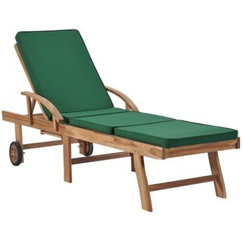 Zielony leżak ogrodowy - Santori