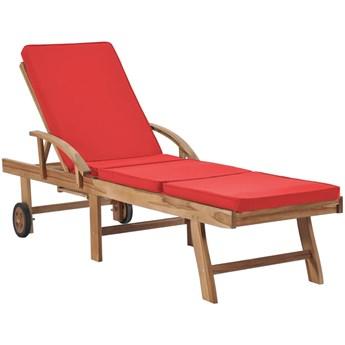 Czerwony leżak ogrodowy - Santori