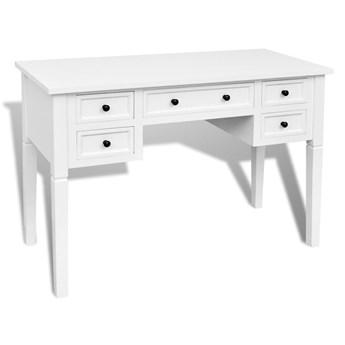 Białe minimalistyczne biurko do gabinetu - Marshal