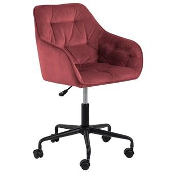 Czerwony fotel obrotowy - Pammi