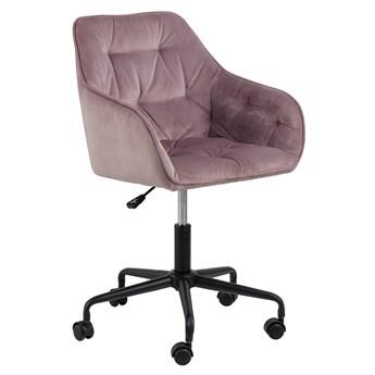 Różowy fotel obrotowy - Pammi