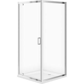 Kabina prysznicowa kwadratowa ARTECO 90x190 szkło transparentne z bro